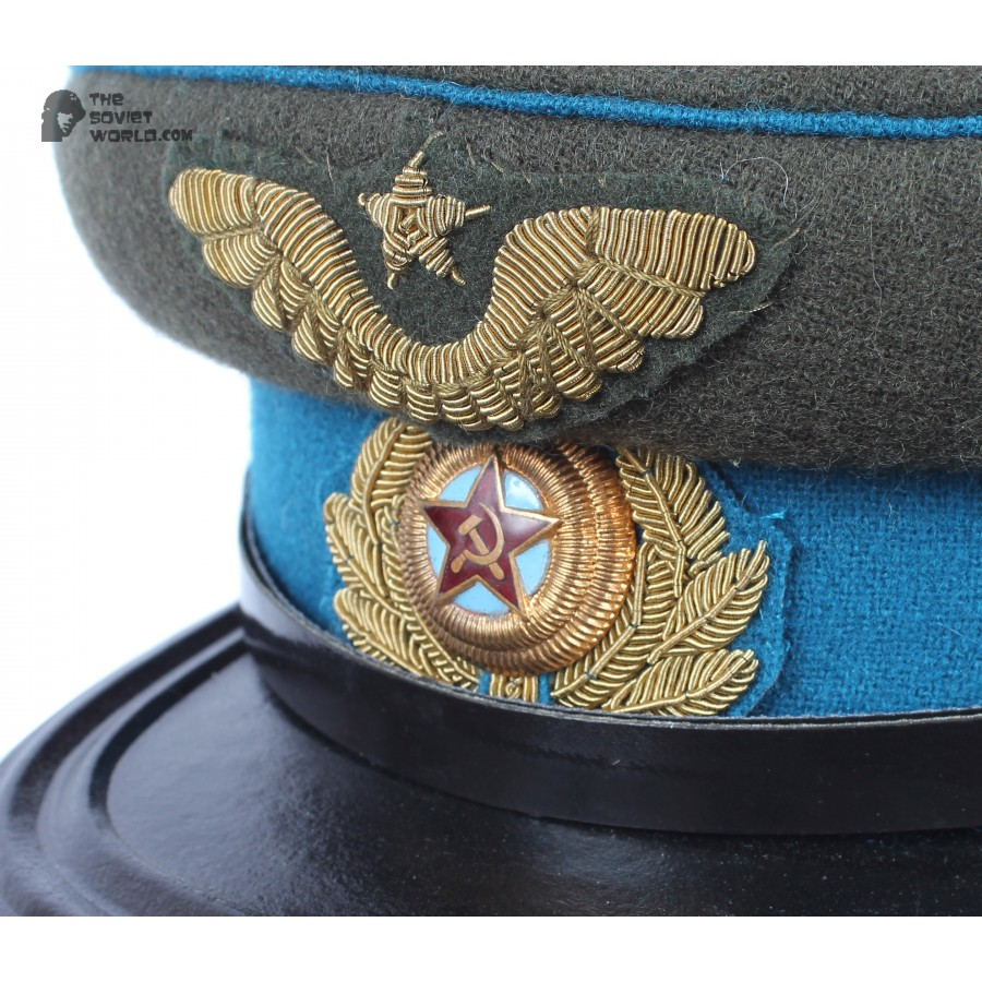 M43 Soviet Army WWII The Highest quality Aviation Officer's military RKKA visor hat 1943