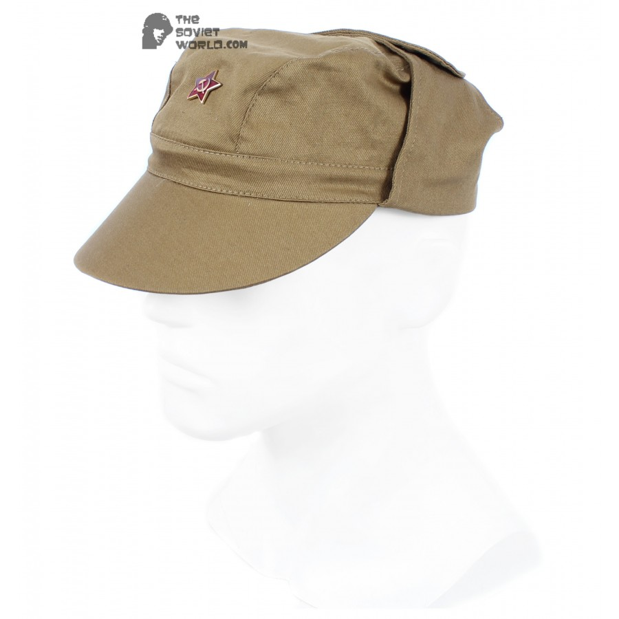 Soviet Russian Army soldier's military Cap Afganka with earflaps