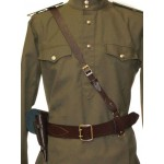 Soviet PORTUPEYA Officer's leather brown Belt and holster