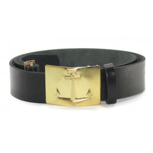 Soviet military black leather Russian NAVAL belt