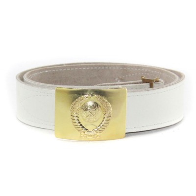 Soviet military parade leather Russian plice belt