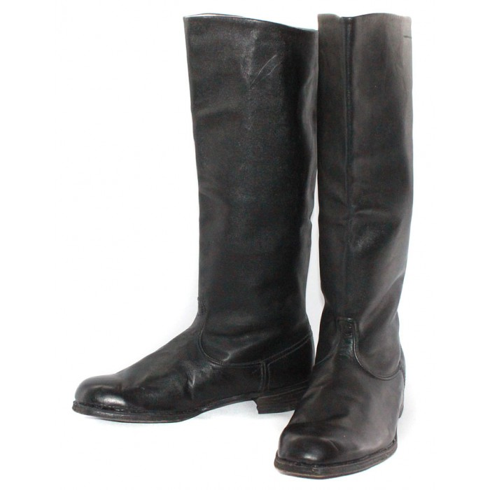 Soviet Original Red Army Russian military black Leather General vintage BOOTS