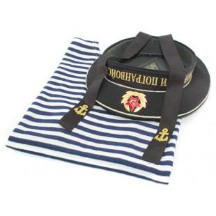 Soviet NAVY / Russian NAVAL telnashka vest and Bezkozirka hat