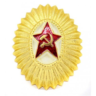 USSR Military Soviet Red Army Officer's hat badge Cocarde