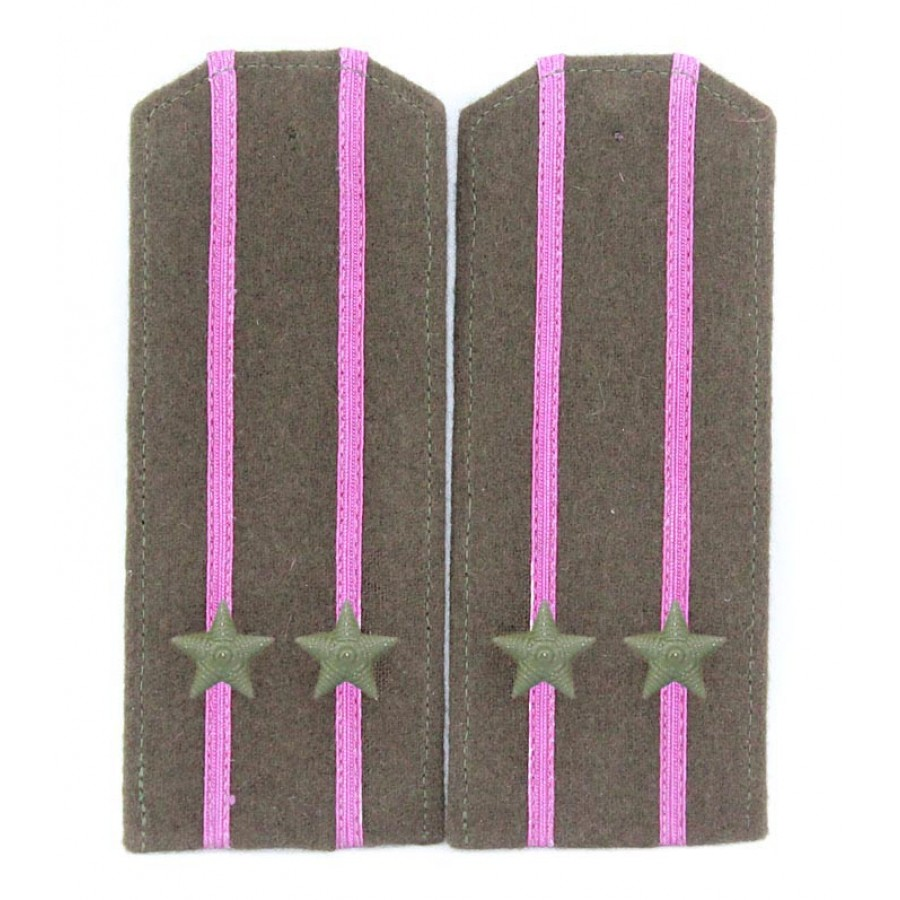 Soviet WWII / Red Army original shoulder boards high-ranking officer of RKKA
