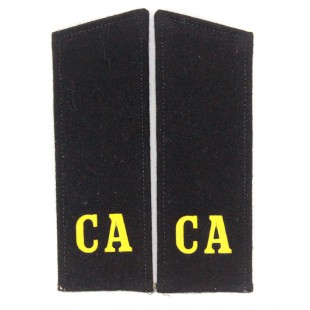 "Russian Military shoulder boards ""CA Soviet Army"" of  Artilery & Tank troops"