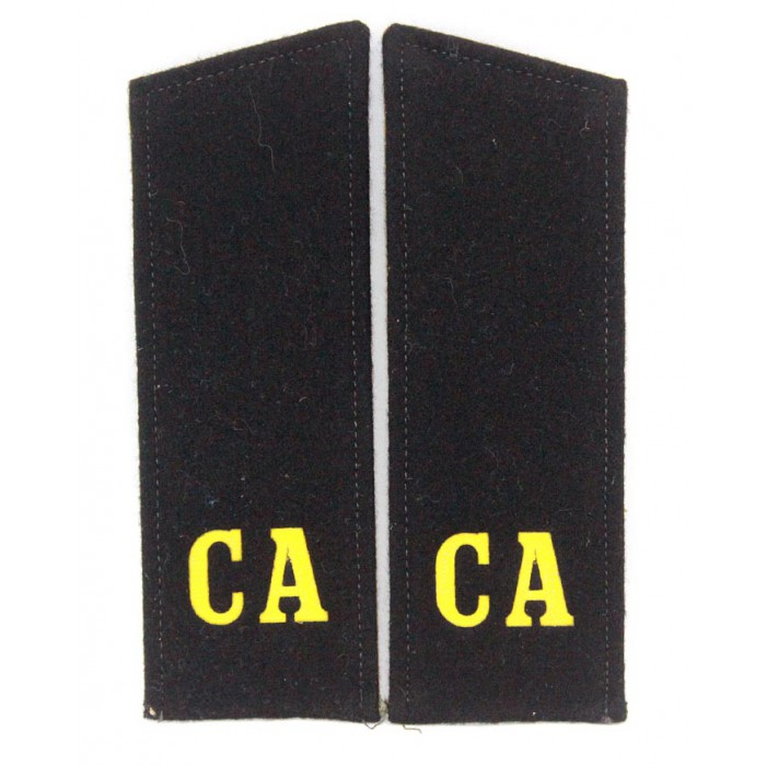 "Russian Military shoulder boards ""CA Soviet Army"" with patch Tank force"