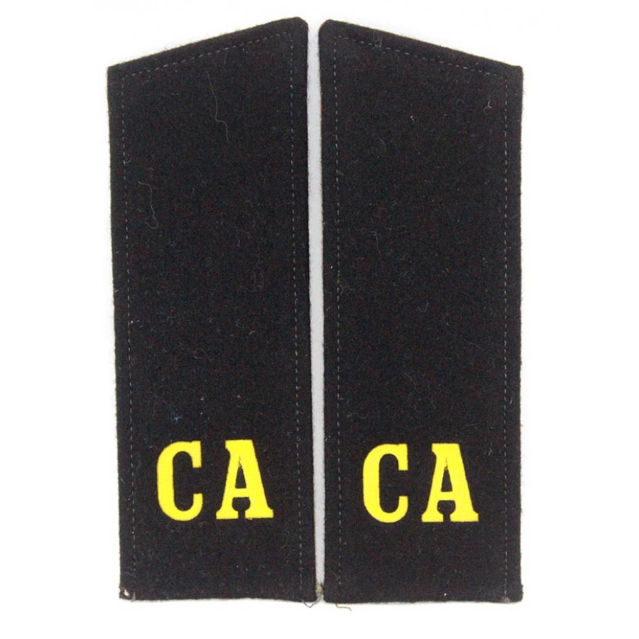 "Russian Military shoulder boards ""CA Soviet Army"" with patch Artillery force"
