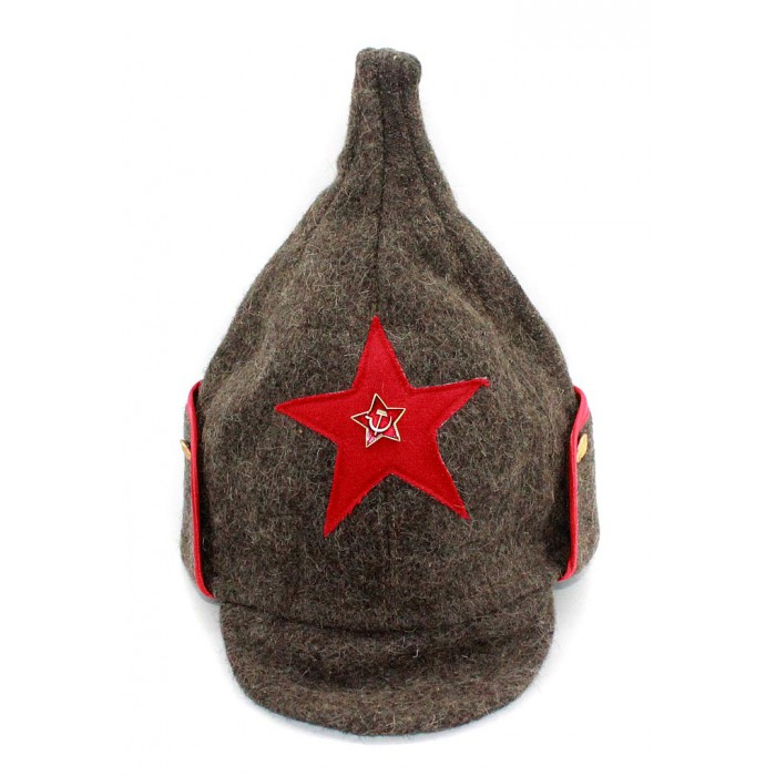 5f7f0b2a240 Soviet RKKA infantry russian Red Army woolen winter hat BUDENOVKA
