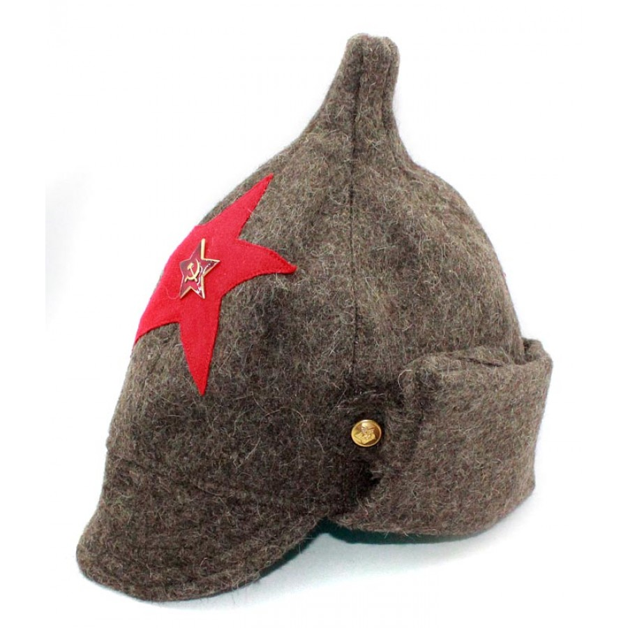 Soviet RKKA infantry russian Red Army woolen winter hat BUDENOVKA with earflaps