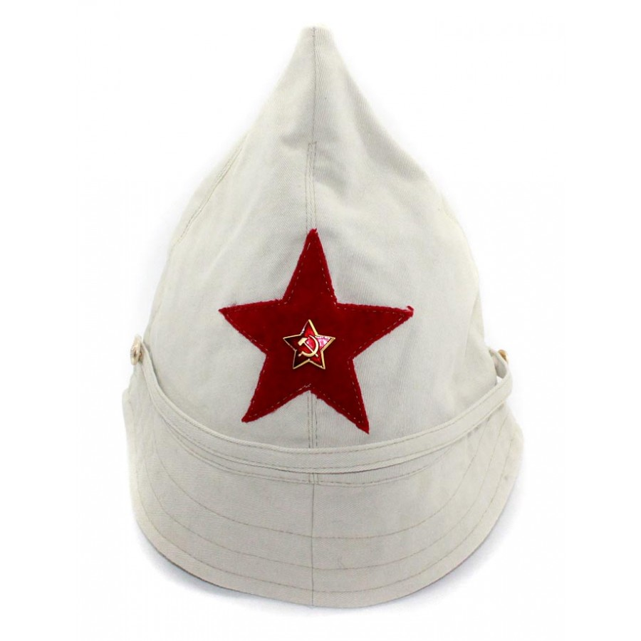 Soviet RKKA russian military beige BUDENOVKA  cotton summer hat