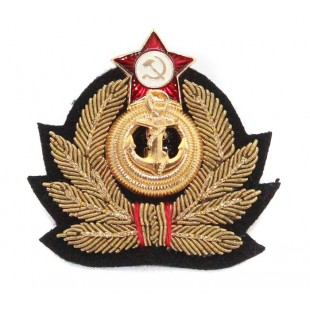 Soviet Russian handmade Admiral's Naval hat badge Cocarde