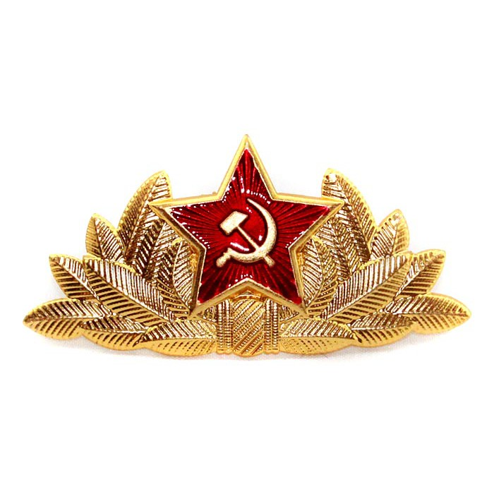 Soviet Red Army General's hat badge Cocarde