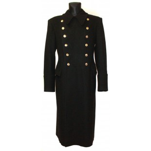 Soviet Army russian Fleet winter warm Naval Officer black military woolen Marines overcoat