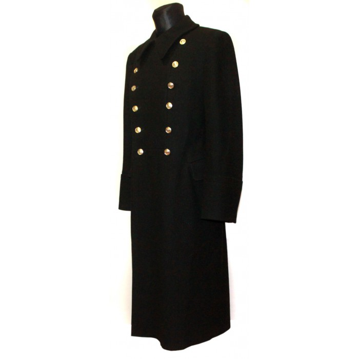 Soviet Army russian Fleet winter warm Naval Officer black military woolen Marines overcoat