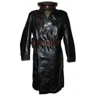Soviet Army / Russian Military Leather NKVD uniform - coat, hat, jacket, pants, belts