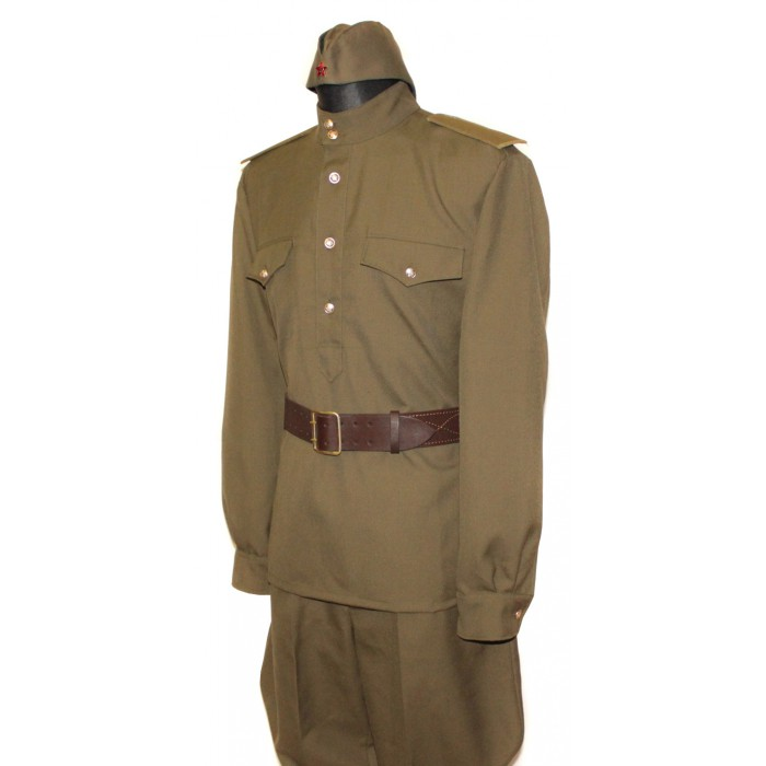 Soviet Red Army WWII Russian military infantry soldier's uniform M43