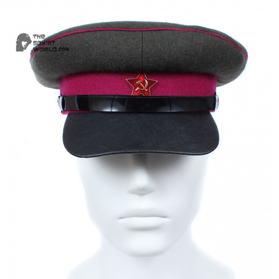 Soviet russian RKKA Infantry Officer's visor hat Red Army cap