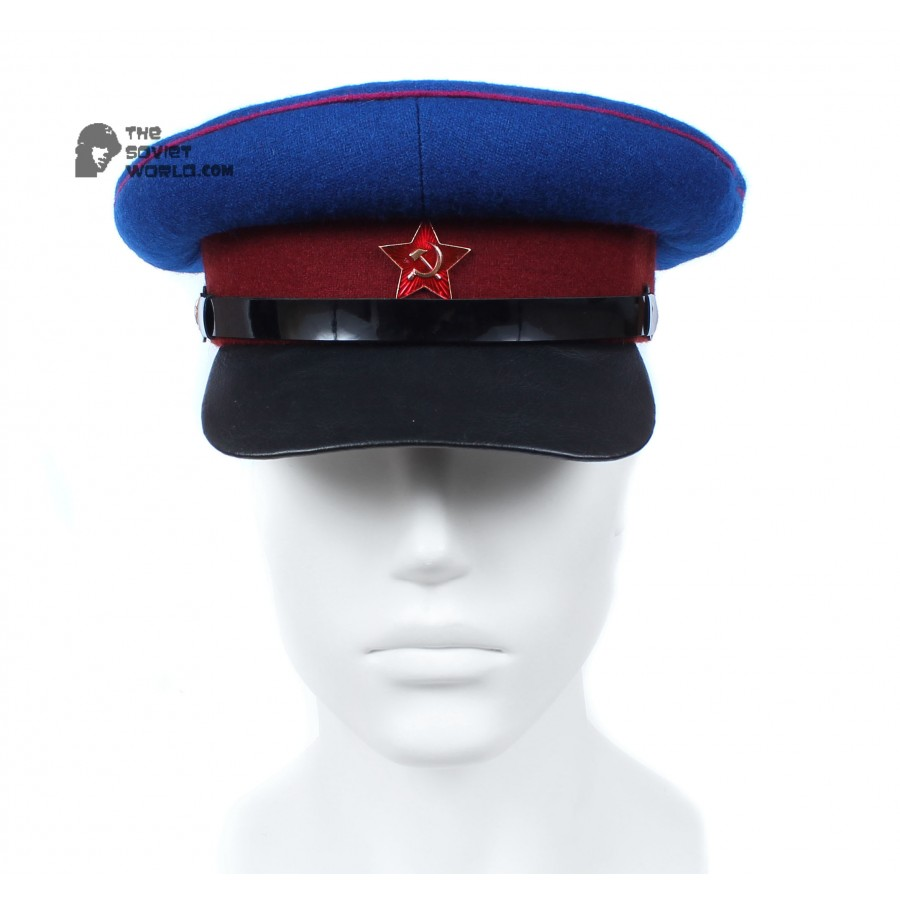 Soviet Russian NKVD Officer's dark blue visor hat WWII