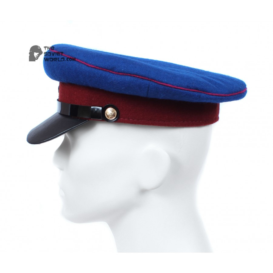 Soviet Russian NKVD Officer's dark blue visor hat WWII