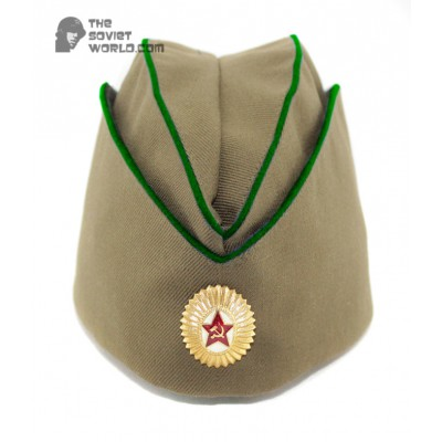 Soviet russian military border guards department Officer's summer hat Pilotka