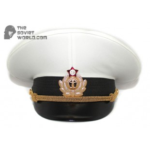 Soviet Fleet / Russian Naval Officer's PARADE visor hat M69