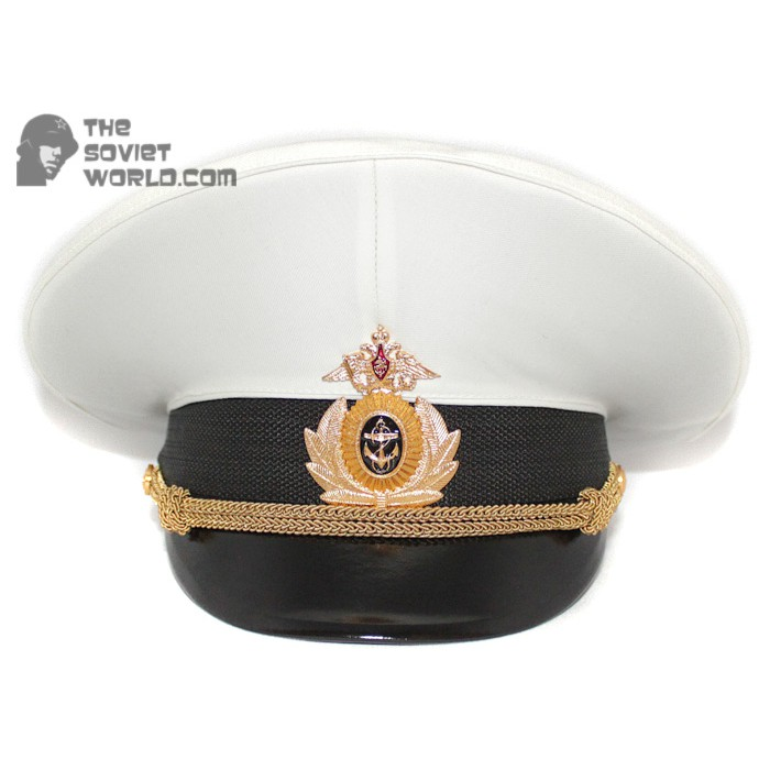 Russian Fleet Naval Officer's PARADE visor hat