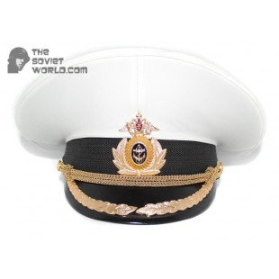 Russian Fleet Naval High rank Officer's PARADE visor hat