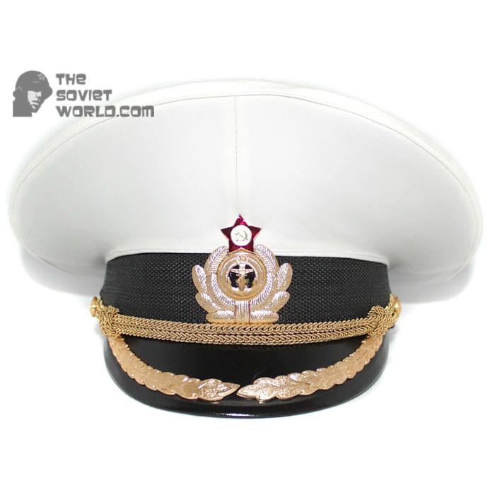 Soviet Fleet / Russian Naval High rank Officer's PARADE visor hat M69