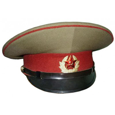 Russian / Soviet USSR Army Internal Troops Officer maroon visor cap