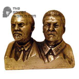 Russian Bronze Soviet bust of Lenin & Stalin