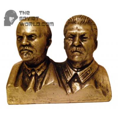 Russian Bronze Soviet bust of Lenin & Stalin