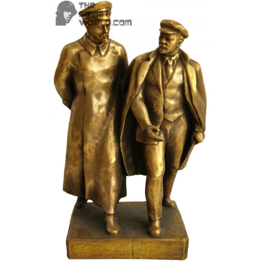 Russian Bronze Soviet bust of Dzerzhinsky & Lenin