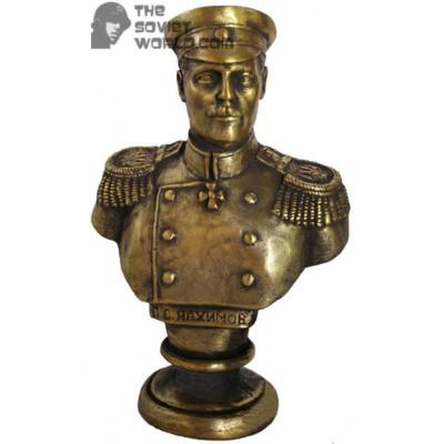 Soviet bronze bust of Russian imperial Admiral Nakhimov