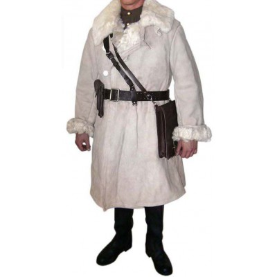 Soviet / Russian officer's warm winter fur overcoat, coat WWII 1944 - 1945