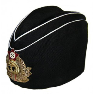 Soviet fleet Russian Naval Admiral's summer black hat Pilotka