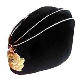 Soviet Russian Naval Officer's black summer hat Pilotka