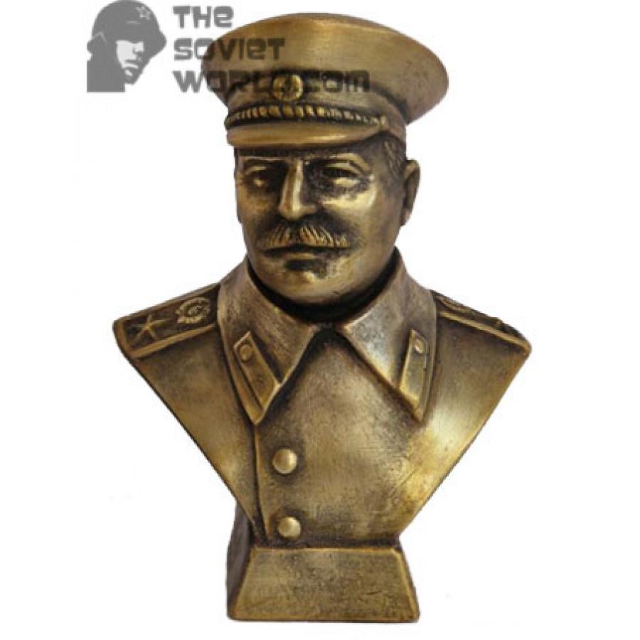 Russian Bronze bust Joseph Stalin Soviet communist
