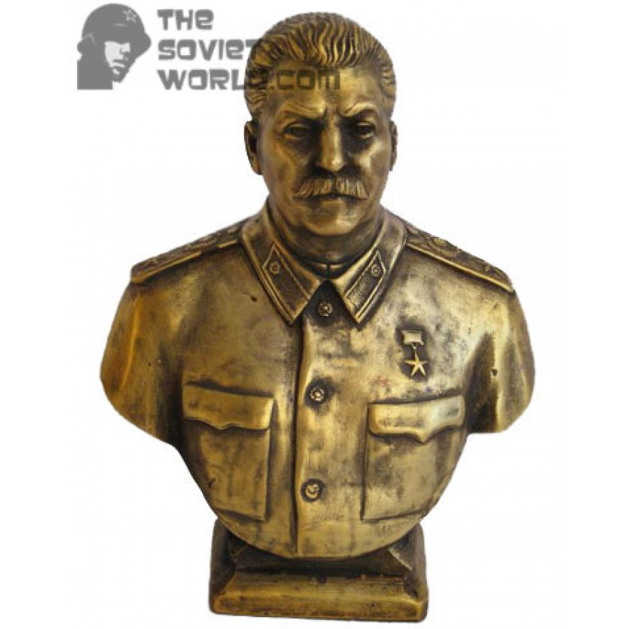 Russian bronze soviet communist bust Stalin