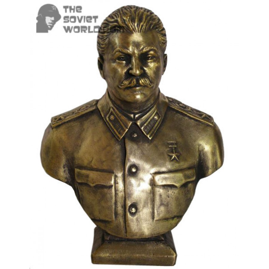 High Russian bronze Soviet bust of Joseph Stalin