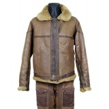 WW2 Vintage Rare Irvin Flying extremely warm Pilot Bomber Sheepskin brown Leather Original winter Antique Jacket & Pants Uniform 1941