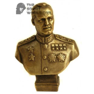 Russian bronze soviet bust of Marshall Zhukov