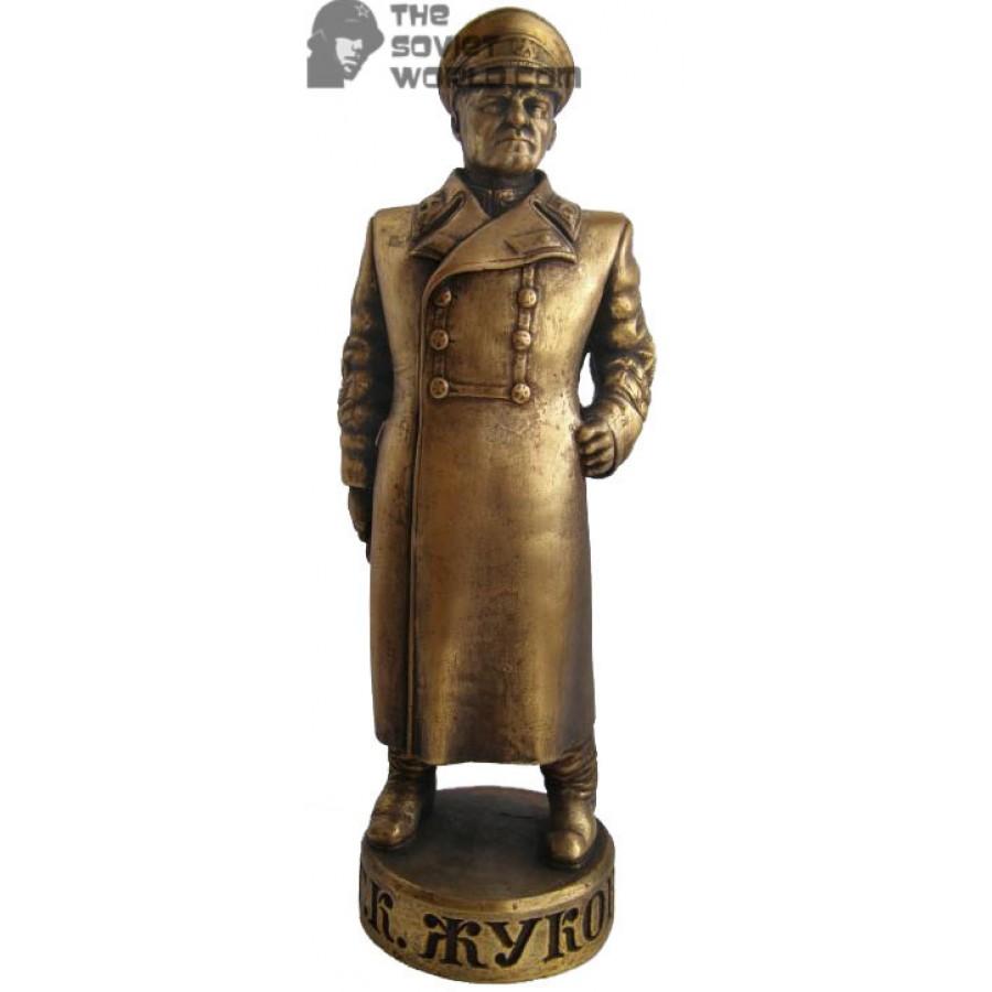 High Russian bronze soviet bust of Marshall Zhukov
