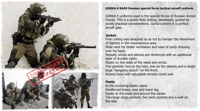GORKA Russian FSB special force tactical spetsnaz uniform