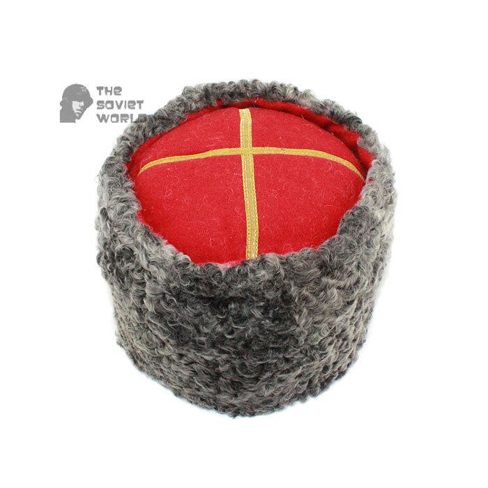 Vintage Soviet Military Astrakhan fur warm winter USSR Army General's Hat PAPAHA