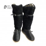 Soviet military winter Extremely warm russian army Polar Arctic Air Force Pilot real Sheep and Wolf fur boots