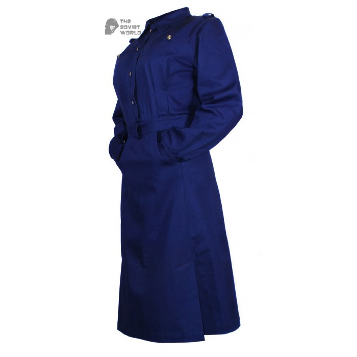 Soviet Army military uniform USSR WW2 female officer cotton navy blue Dress