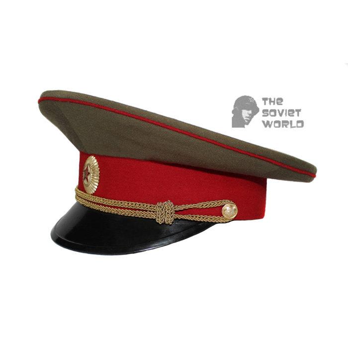 da033c55c Soviet Army Officer visor cap of Russian Infantry troops M69 USSR hat