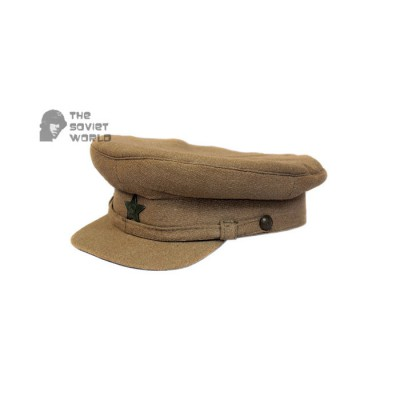Soviet russian RKKA military Khaki Visor Cap Red Army WWII hat