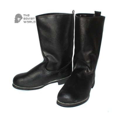 Soviet army Russian military soldier's Leather black Kersey USSR boots (short)